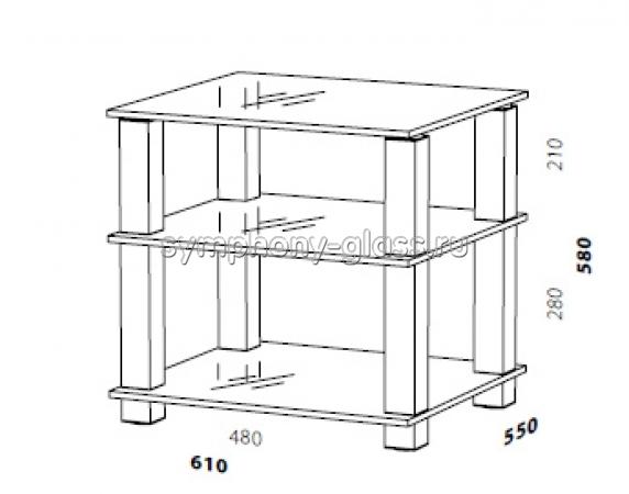 Стойка для hi-fi ANLine Модель 2 (стекло 12, 15, 19 мм)