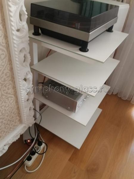 Узкая этажерка для аппаратуры ANLine Фокус Мини Hi-Fi