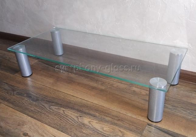 Настольная подставка для тв Стекло Металл СЛ-1