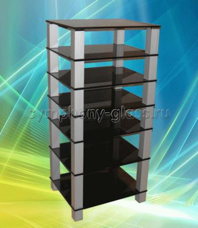 Высокая стойка для аппаратуры G-Met ТВК-7.650 (7 стекол)
