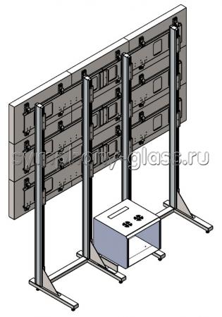Напольная видеостена 3х3 Вариант 6 с rac-стойкой