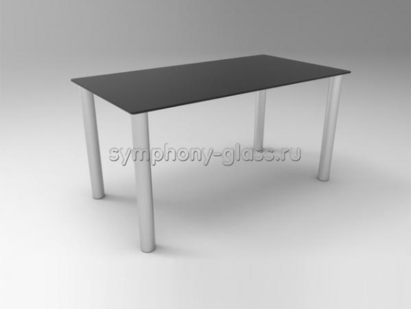 Стеклянный обеденный стол 150 см  Стекло Металл Бетта