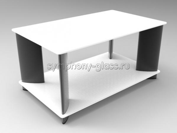 Прямоугольный журнальный стол Стекло Металл Виола
