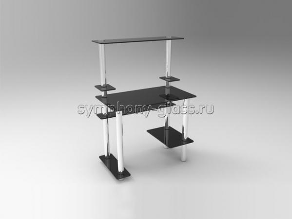 Компьютерный столик из стекла и металла СК-3