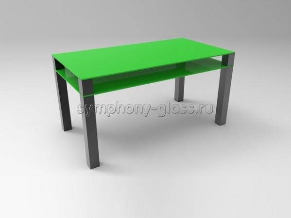 Большой обеденный стол Стекло Металл Квадро