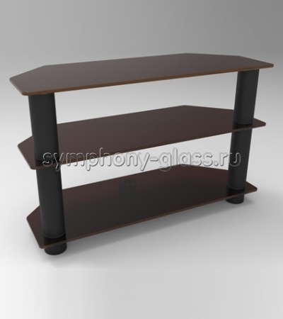 Угловой столик для жк тв Стекло Металл ПУ