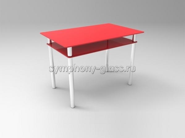 Стол обеденный Стекло Металл Вега