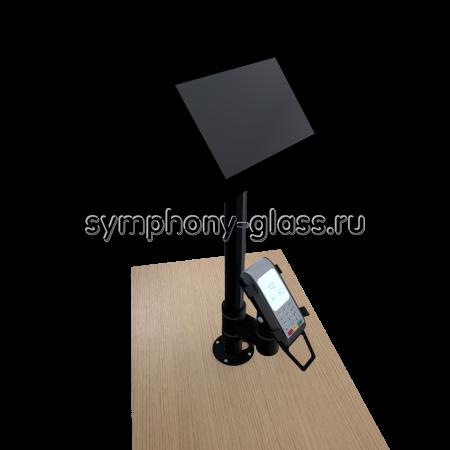 Настольный кронштейн для банковского POS-терминала (пин-пада) и монитора