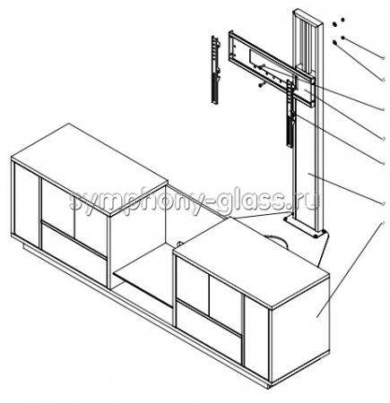 Стойка для больших тв ANLine Wood-1 70-85 дюймов