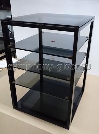 Узкая этажерка для аппаратуры ANLine Фокус Квадрат