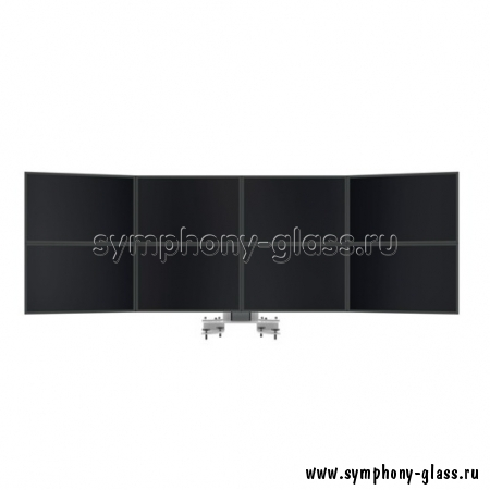 Видеостена крепление к столу 4х2 монитора (на струбцине)