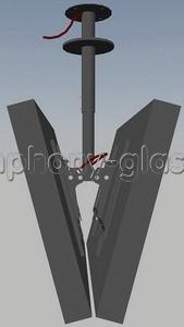 Кронштейн потолочный для 2-х тв Allegri П-2/65 (50-65 дюймов)