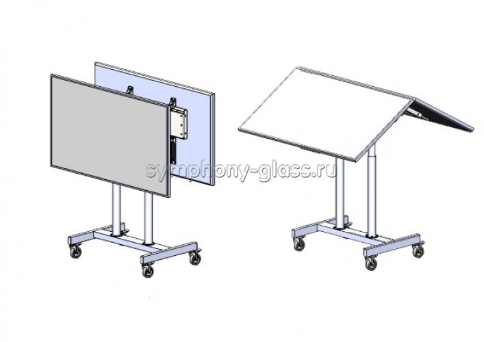 Мобильная стойка Allegri Техно-7 Президиум для 2 тв