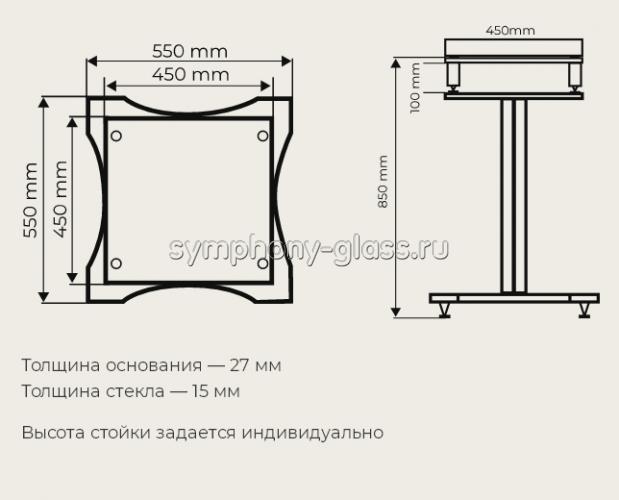 Стойка для винилового проигрывателя и аппаратуры VOX Module S-006 Maggiore