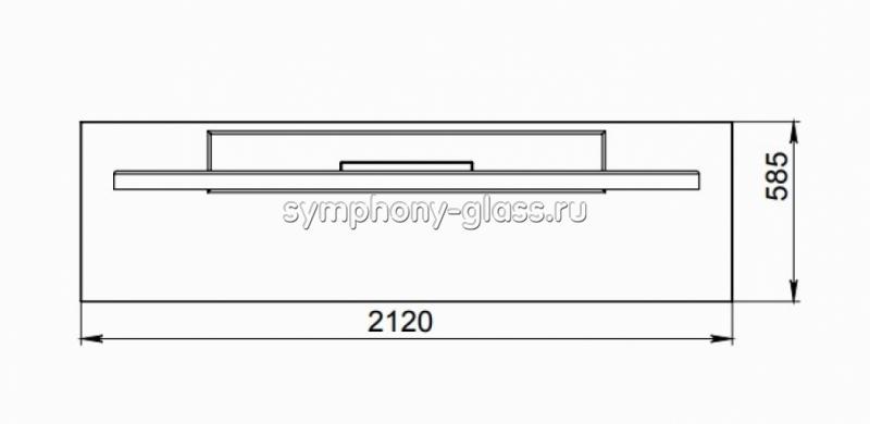 Тумба со стеклом 19 мм ANLine Wood-2 70-85 дюймов