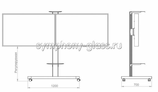 Стойка для двух тв Sms Flatscreen FM MFD 1450 (Россия)