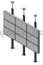 Распорная стойка для видеостены 3х3 монитора