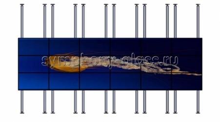 Распорная стойка 6х3 мониторов кронштейн полного выдвижения