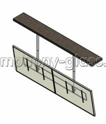 Потолочное крепление для 2-х телевизоров - видеостена 2х1