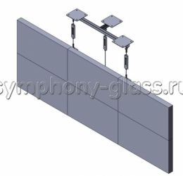 Потолочное кронштейн для видеостены 3х2