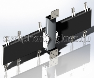 Кронштейн наклонно-поворотный для видеостены 3х1 монитор