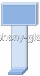 Напольная антивандальная презентационная стойка