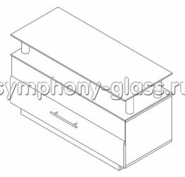 Тумба с ящиком Allegri Бриз-2 1250 накладка ОРЕХ