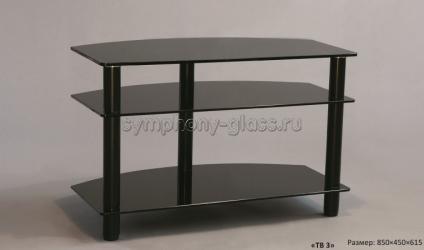 Угловая тв тумба Стекло-Модуль ТВ 3/850