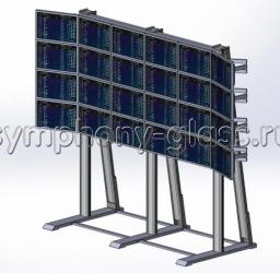 Напольная видеостена на 6х4 монитора Вариант 1