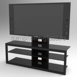 Стойка для больших телевизоров Стекло Металл Концепт Плюс