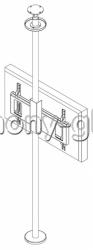 Распорный кронштейн для тв Базовая Модель для натяжного потолка