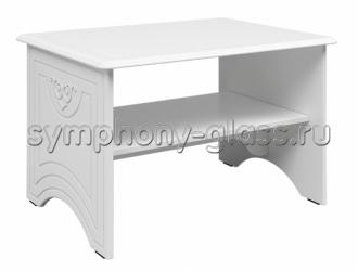 Белый журнальный стол Компасс Ассоль АС-12