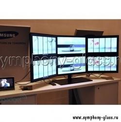 Настольная видеостена 3х2 монитора (Вариант 1)