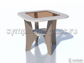 Маленький квадратный журнальный стол НМ 013.90-04