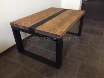 Деревянный журнальный стол в стиле лофт Loft-3