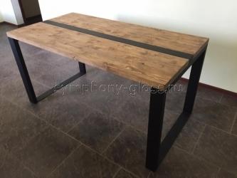 Деревянный обеденный стол в стиле лофт Loft-1